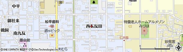 愛知県一宮市小信中島(西五反田)周辺の地図