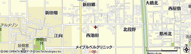 愛知県一宮市開明(西池田)周辺の地図