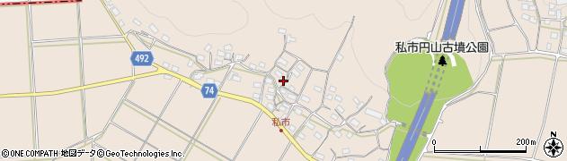 京都府綾部市私市町(中村段)周辺の地図