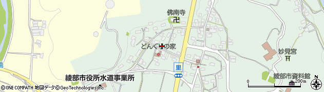 京都府綾部市里町周辺の地図
