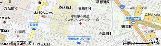 愛知県一宮市貴船町周辺の地図