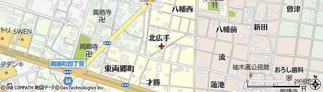 愛知県一宮市大赤見(北広手)周辺の地図