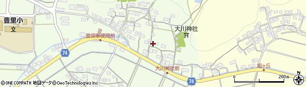 京都府綾部市栗町(上村)周辺の地図