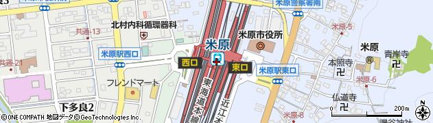 滋賀県米原市周辺の地図