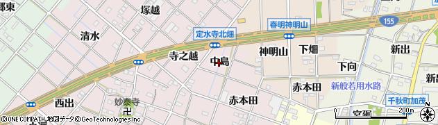 愛知県一宮市定水寺(中島)周辺の地図