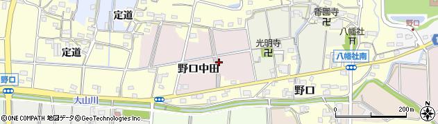 愛知県小牧市野口中田周辺の地図