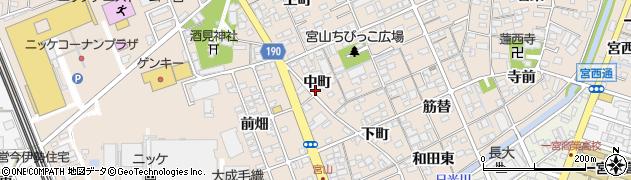 愛知県一宮市今伊勢町本神戸(中町)周辺の地図