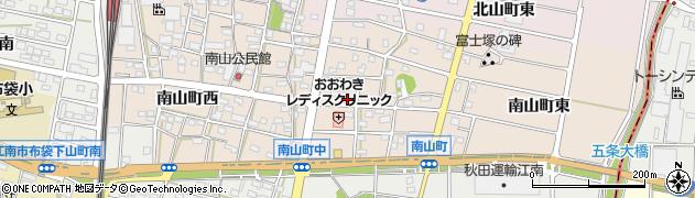愛知県江南市南山町(中)周辺の地図