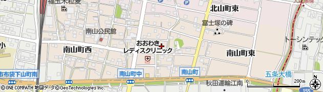 愛知県江南市南山町周辺の地図