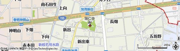 愛知県一宮市千秋町加茂(寺廻)周辺の地図