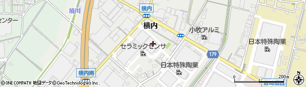 愛知県小牧市横内周辺の地図