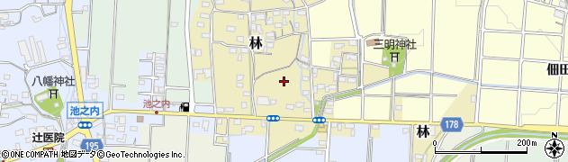 愛知県小牧市林周辺の地図