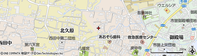 静岡県御殿場市西田中周辺の地図