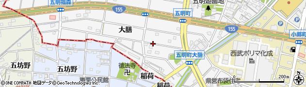 愛知県江南市五明町(大膳)周辺の地図