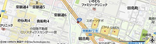 愛知県一宮市常願通周辺の地図