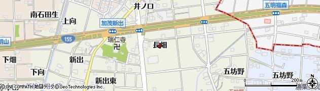 愛知県一宮市千秋町加茂(長畑)周辺の地図