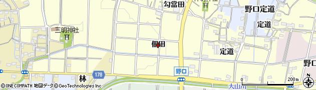 愛知県小牧市野口(佃田)周辺の地図