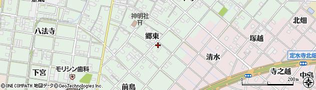 愛知県一宮市西大海道(郷東)周辺の地図