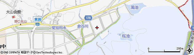 愛知県小牧市大山東周辺の地図