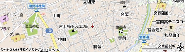 愛知県一宮市今伊勢町本神戸(天王)周辺の地図