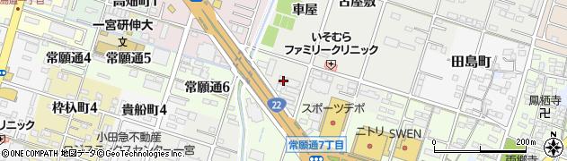 愛知県一宮市丹羽(車屋)周辺の地図