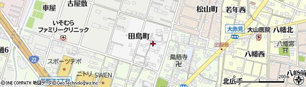 愛知県一宮市一宮(西屋敷)周辺の地図