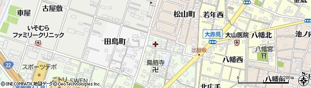 愛知県一宮市一宮(松林)周辺の地図