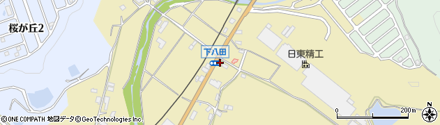 京都府綾部市下八田町(才ケ花)周辺の地図