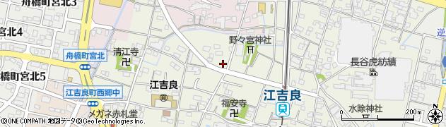 岐阜県羽島市江吉良町周辺の地図