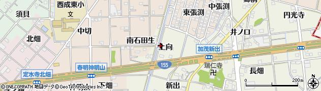 愛知県一宮市千秋町加茂(上向)周辺の地図