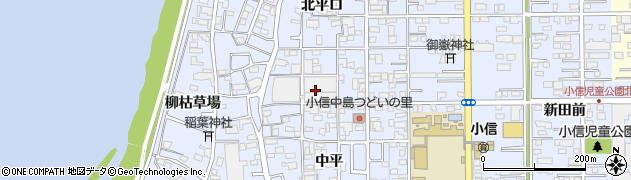 愛知県一宮市小信中島(東屋敷)周辺の地図