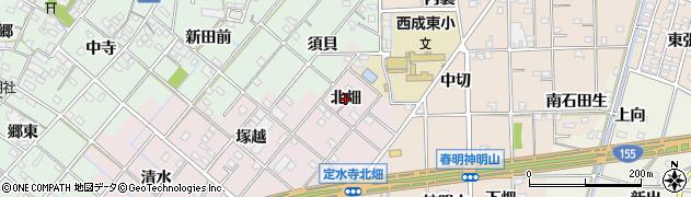 愛知県一宮市定水寺(北畑)周辺の地図