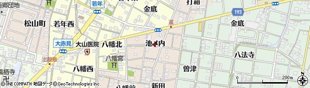 愛知県一宮市柚木颪(池ノ内)周辺の地図