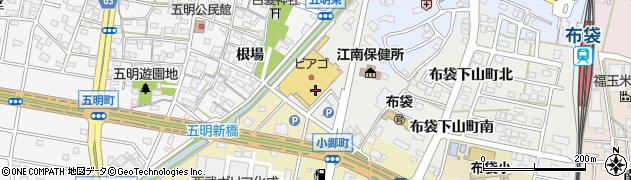 愛知県江南市布袋下山町(西)周辺の地図