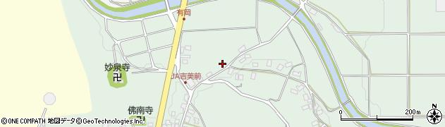 京都府綾部市里町(敷田)周辺の地図