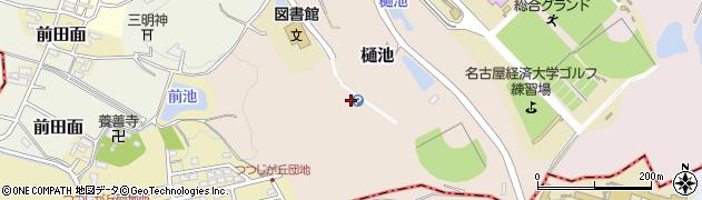 愛知県犬山市樋池周辺の地図