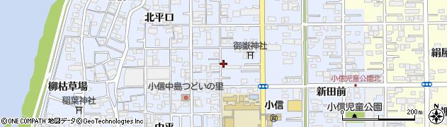 愛知県一宮市小信中島(南平口)周辺の地図