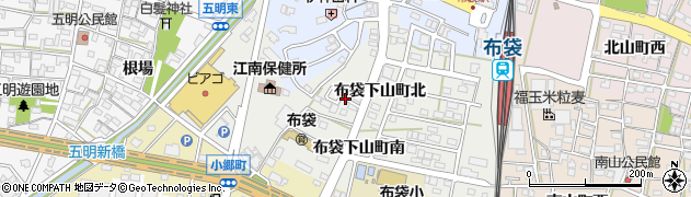 愛知県江南市布袋下山町(北)周辺の地図