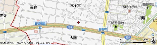 愛知県江南市五明町周辺の地図