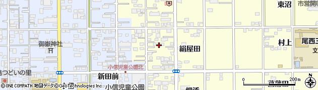 愛知県一宮市開明(絹屋田)周辺の地図