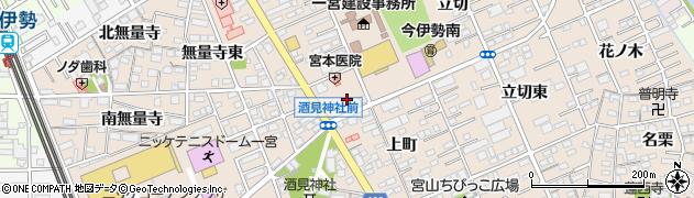 愛知県一宮市今伊勢町本神戸(山王)周辺の地図