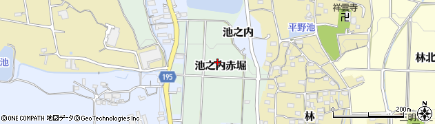 愛知県小牧市池之内赤堀周辺の地図