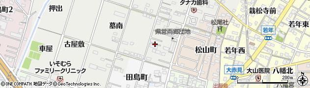 愛知県一宮市古見町周辺の地図