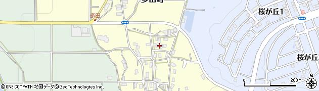 京都府綾部市多田町(峠)周辺の地図