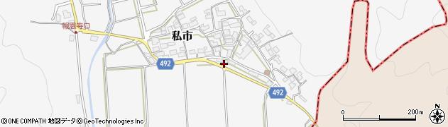 京都府福知山市私市(下深田)周辺の地図