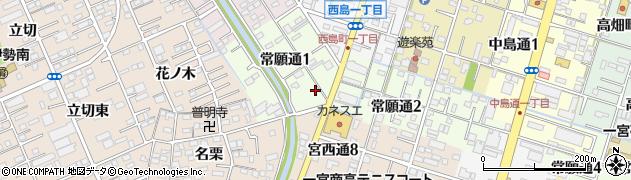 ほっともっと 一宮常願通店周辺の地図