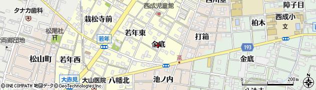 愛知県一宮市大赤見(金底)周辺の地図