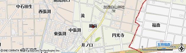 愛知県一宮市千秋町加茂(郷前)周辺の地図