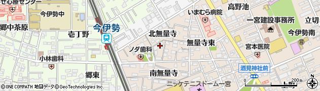 愛知県一宮市今伊勢町本神戸(北無量寺)周辺の地図