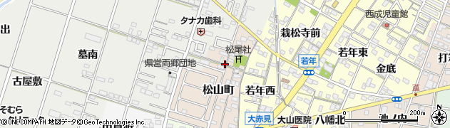 愛知県一宮市松山町周辺の地図